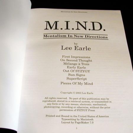 M.I.N.D. by Lee Earle