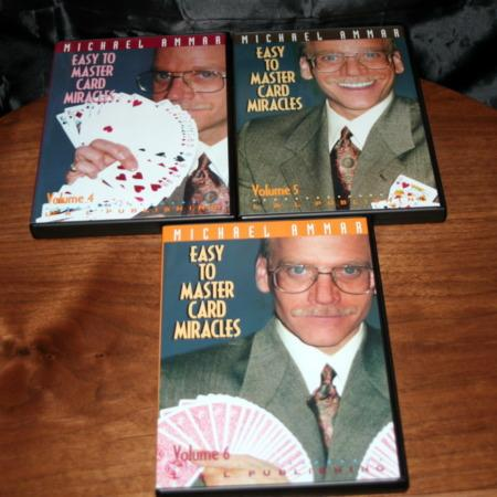 Easy To Master Card Miracles - Vols. 4-6 DVD by Michael Ammar