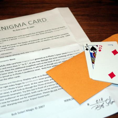Enigma card by Bob Solari Magic