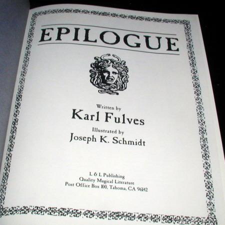 Epilogue by Karl Fulves