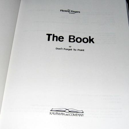 The Book - Don't Forget to Point by Flicking Fingers
