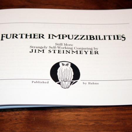 Further Impuzzibilities by Jim Steinmeyer