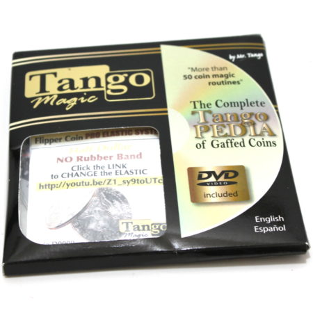 Pro Elastic System Flipper Coin (Half Dollar) by Tango Magic