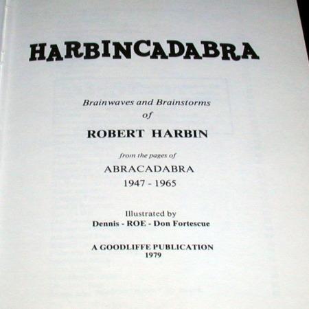 HarbinCadabra by Robert Harbin