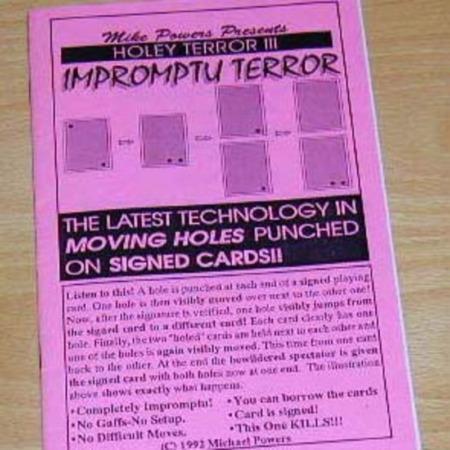 Impromptu Terror (Holey Terror III) by Michael Powers