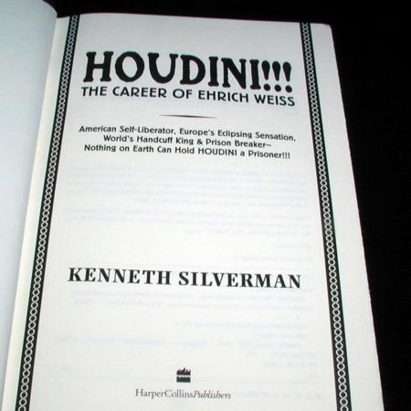 Houdini!!! by Kenneth Silverman