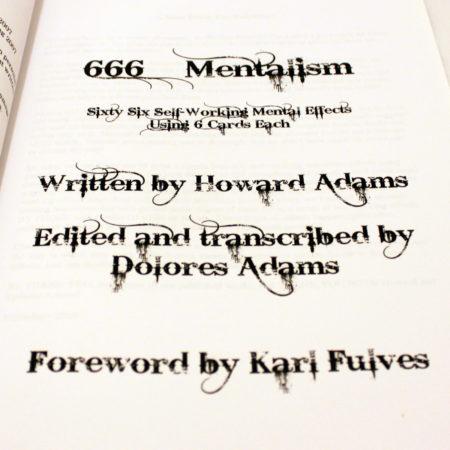 666 Mentalism by Howard Adams
