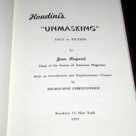 Houdini's Unmasking by Jean Hugard