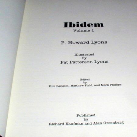 ibidem - Vol. 1 by P. Howard Lyons