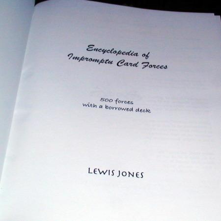Encyclopedia of Impromptu Card Forces by Lewis Jones
