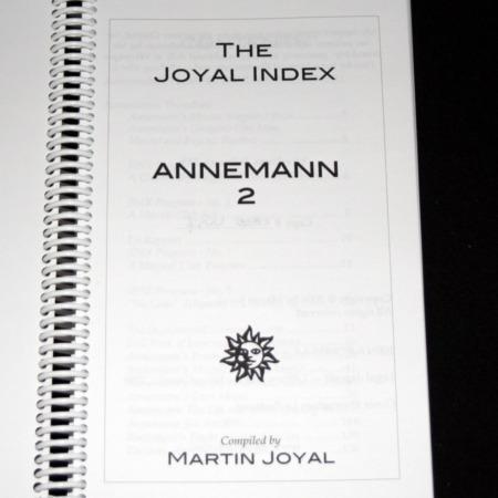 Joyal Index: Annemann 2 by Martin Joyal