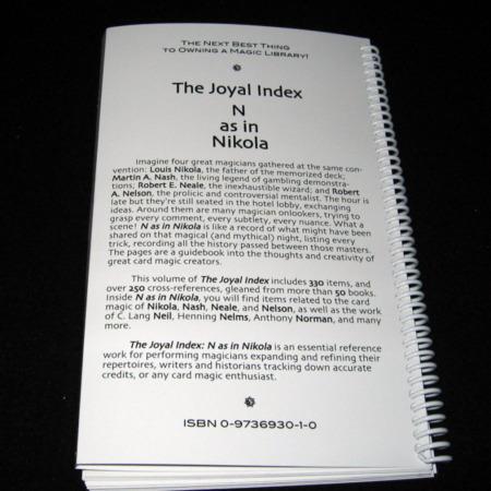 Joyal Index: N as in Nikola by Martin Joyal