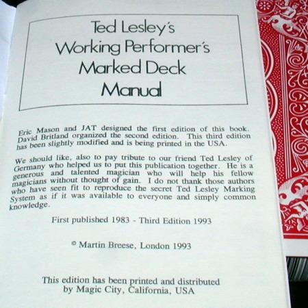 Ted Lesley's Jumbo Marked Deck by Ted Lesley