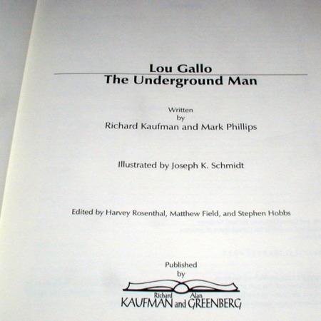 Lou Gallo - The Underground Man by Richard Kaufman