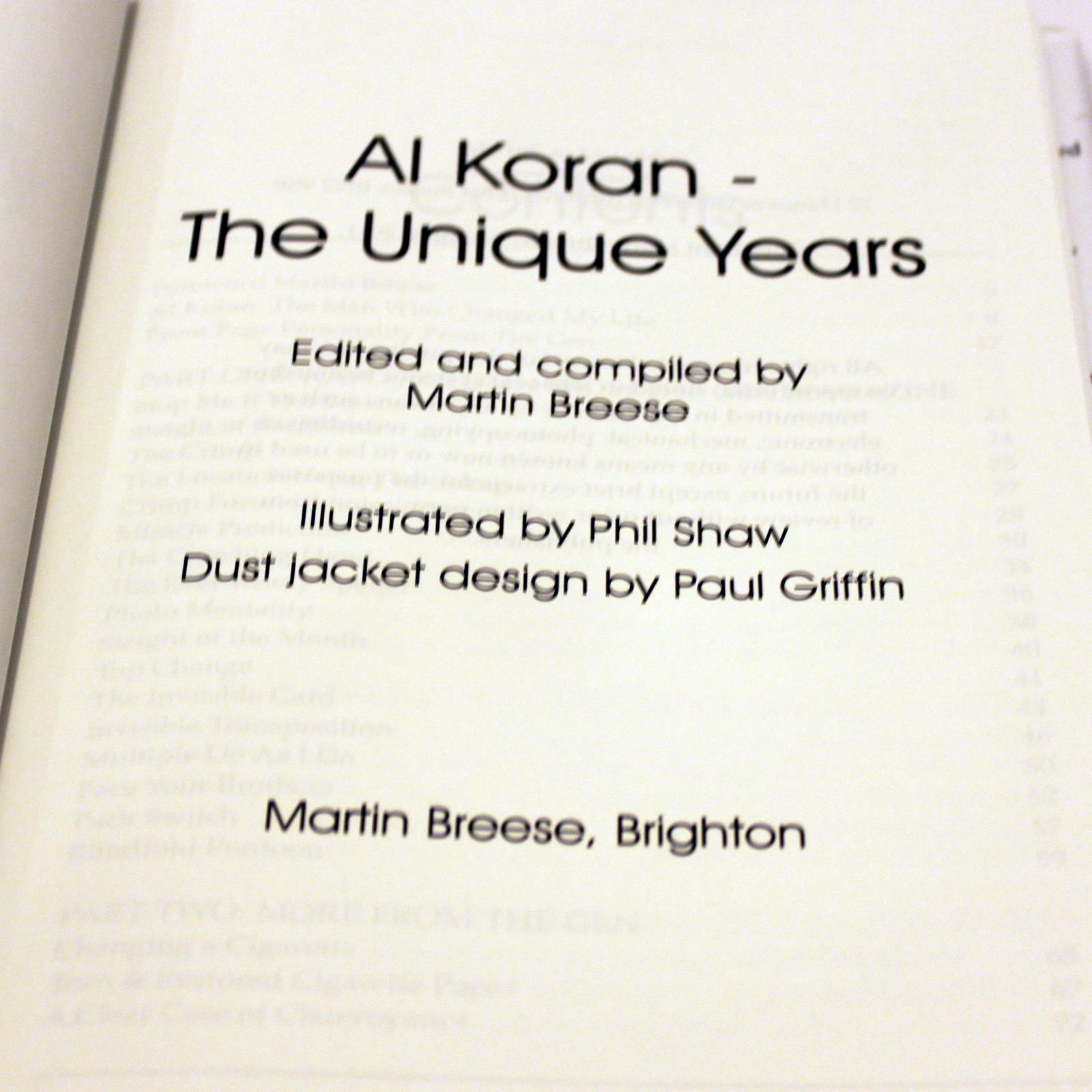 Al Koran - The Unique Years by Martin Breese