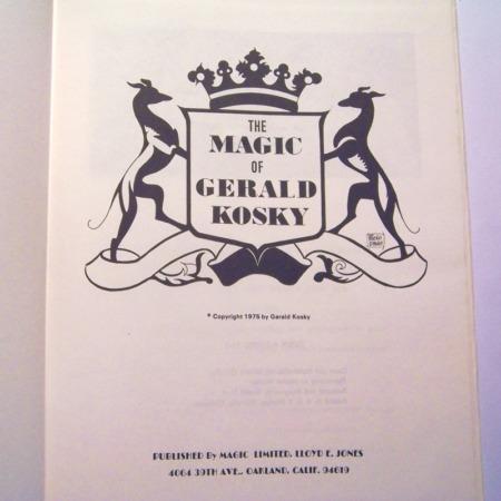 Magic of Gerald Kosky, The by Gerald Kosky