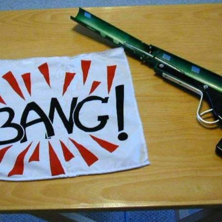 Bang Gun (large) by Maquintre Pty Ltd