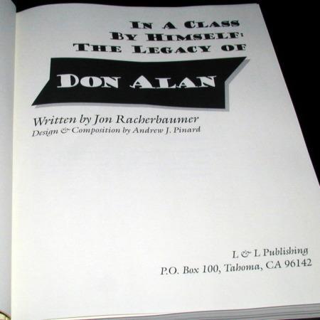 Legacy of Don Alan by Jon Racherbaumer