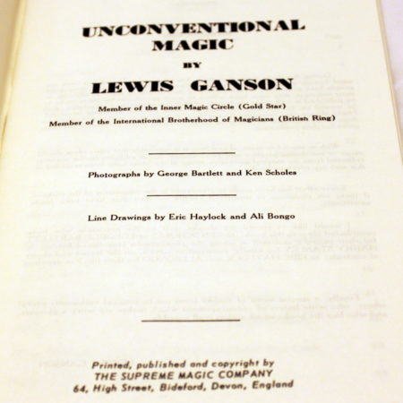 Unconventional Magic by Lewis Ganson