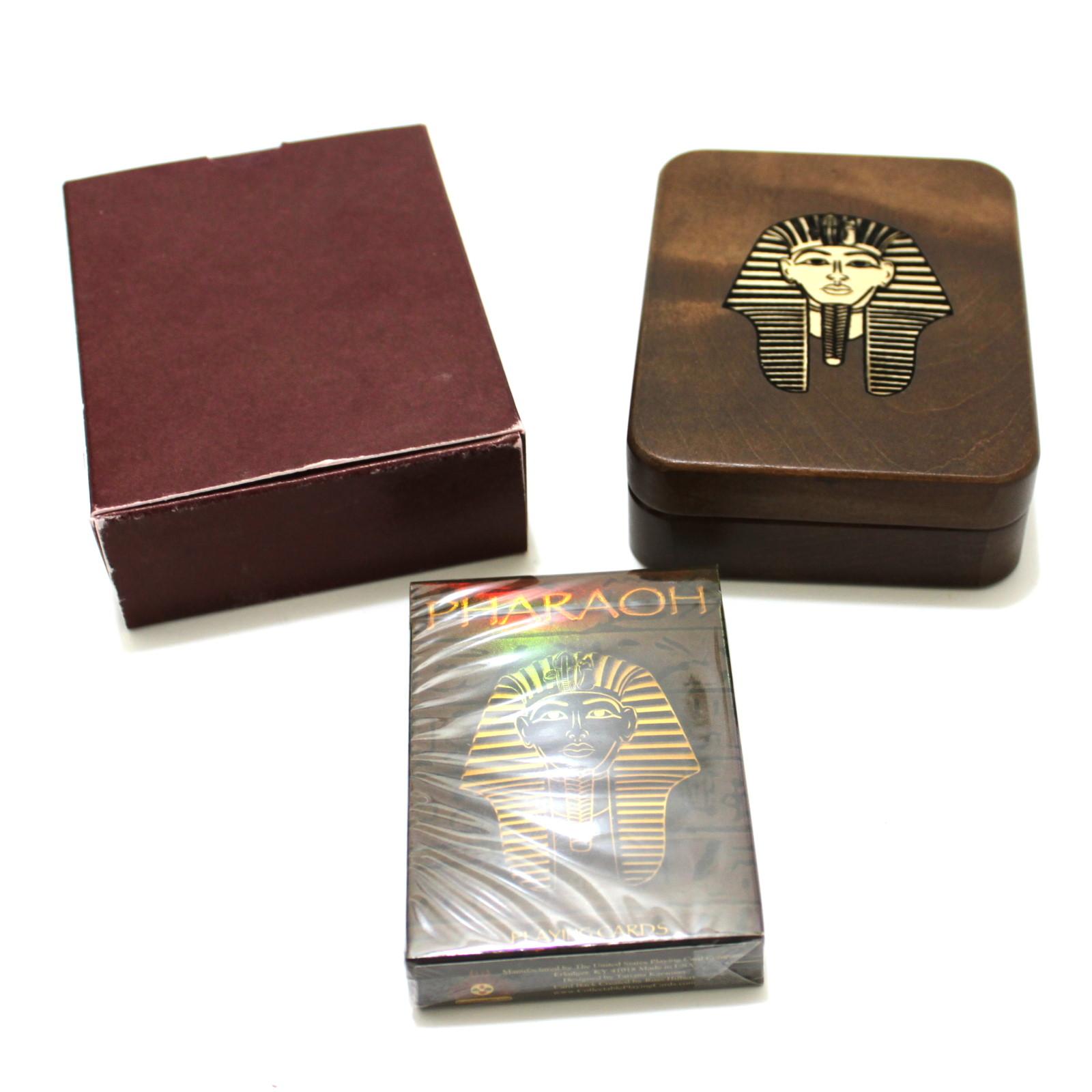Walnut Pharaoh Box + Foil Deck by Tatiana Karaman