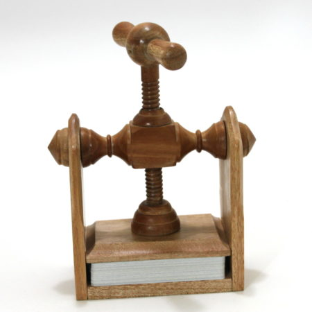 Mahogany Card Press by Martin Lewis