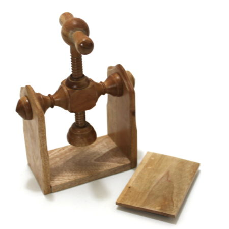 Mahogany Card Press by Martin Lewis
