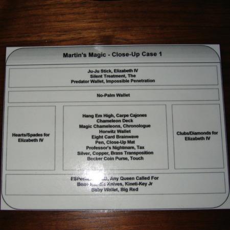 My Xmas 2005 Close-Up Case by Martin's Magic