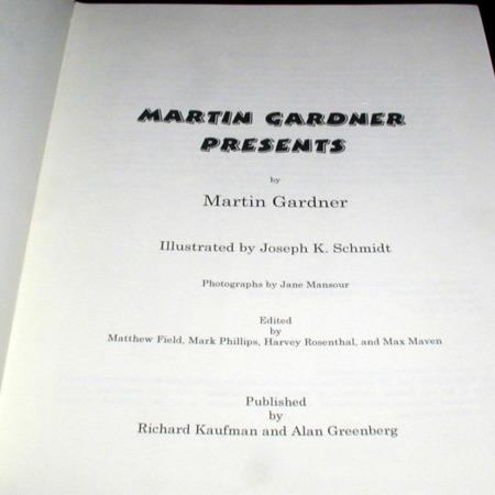 Martin Gardener Presents by Martin Gardner