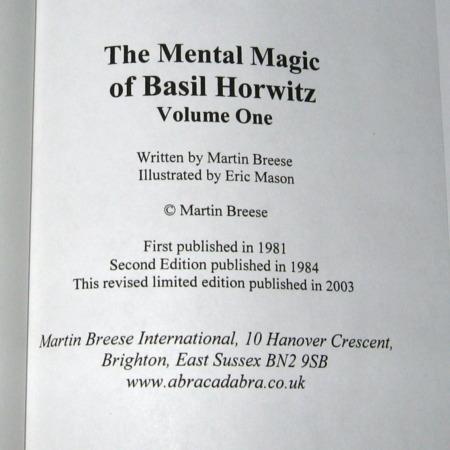 Mental Magick of Basil Horwitz, Vol 1. by Basil Horwitz