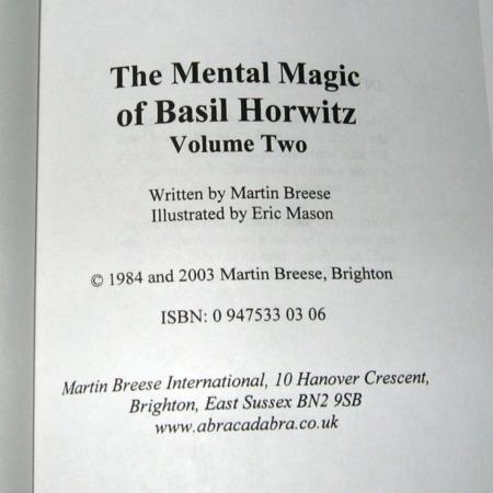 Mental Magick of Basil Horwitz, Vol 2. by Basil Horwitz