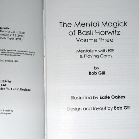 Mental Magick of Basil Horwitz, Vol 3. by Basil Horwitz