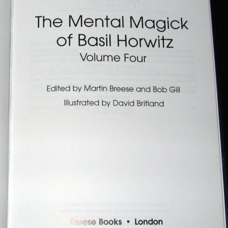 Mental Magick of Basil Horwitz, Vol 4. by Basil Horwitz