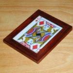 Miniature Wooden Card Frame by Richard Gerlitz