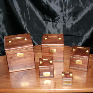 Minature Nest of 5 Boxes by Paul Lembo