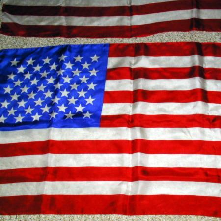 """Mis Made Flag - 21"""" x 33"""" by P&A Silks"""