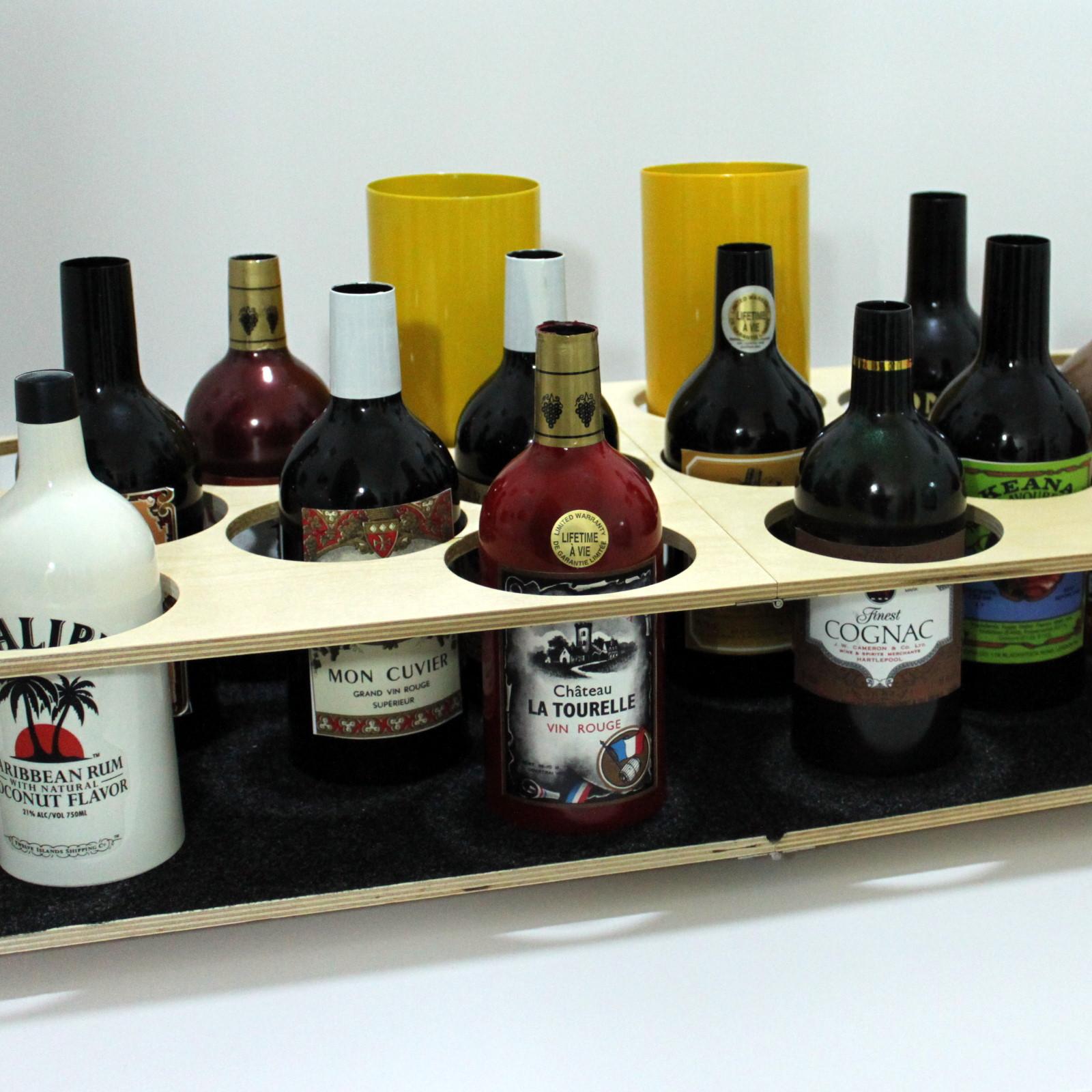 Multiplying Bottle Tray by Joe Lefler