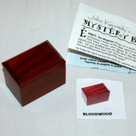 Mystery Box - Exotic Wood - Bloodwood by John Kennedy