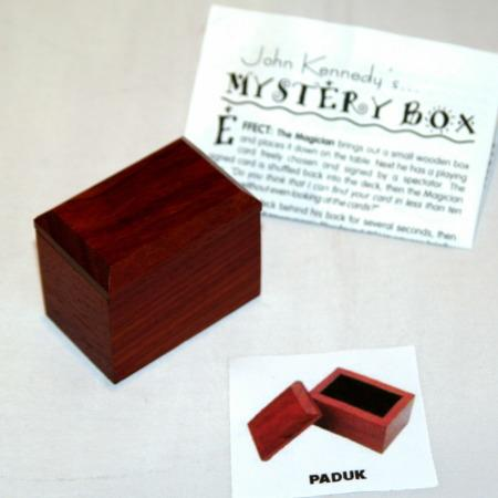 Mystery Box - Exotic Wood - Paduk by John Kennedy