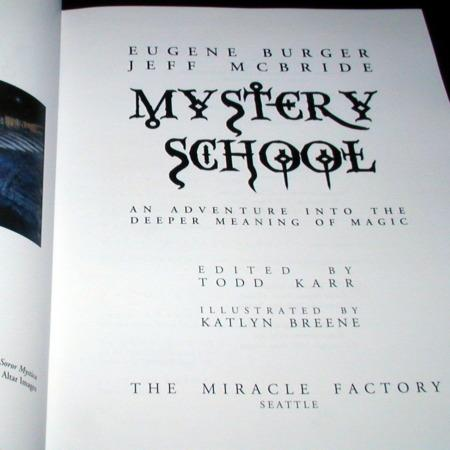 Mystery School by Eugene Burger/Jeff McBride