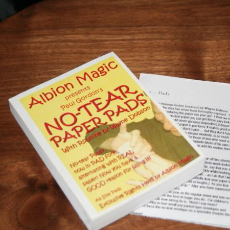 No Tear Paper Pads by Albion Magic