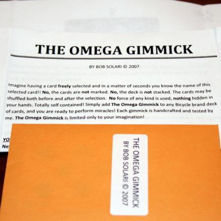 Review by Andy Martin for Omega Gimmick by Bob Solari Magic
