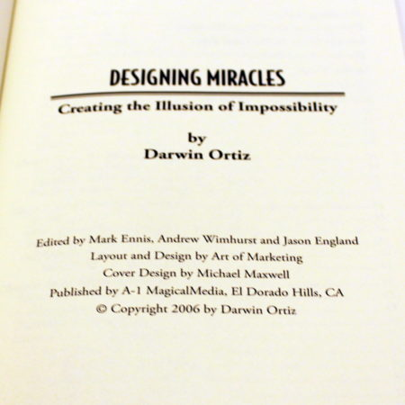Designing Miracles by Darwin Ortiz