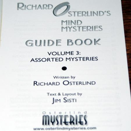 Mind Mysteries Guide Book - Vol. 3 by Richard Osterlind