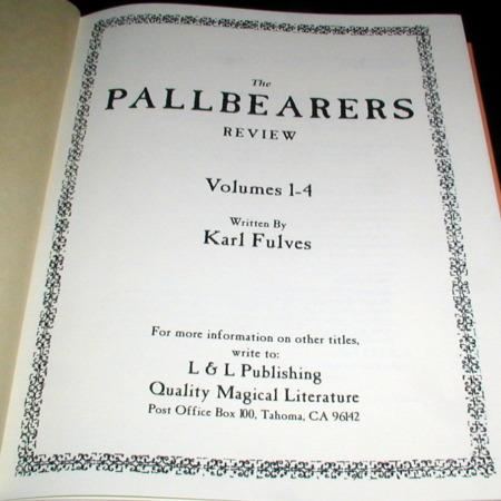 Pallbearers Review: Vols: 1-4 by Karl Fulves