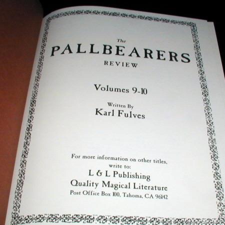 Pallbearers Review: Vols 9-10 by Karl Fulves