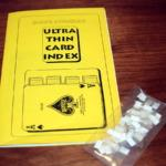 Ultra Thin Card Index by Dave Powell