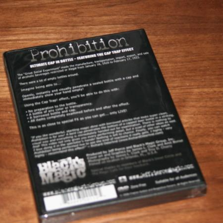 Prohibition DVD by Charlie Justice