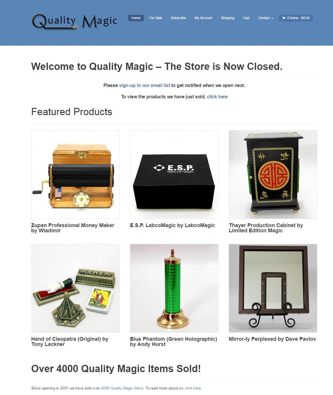 Quality Magic Sales