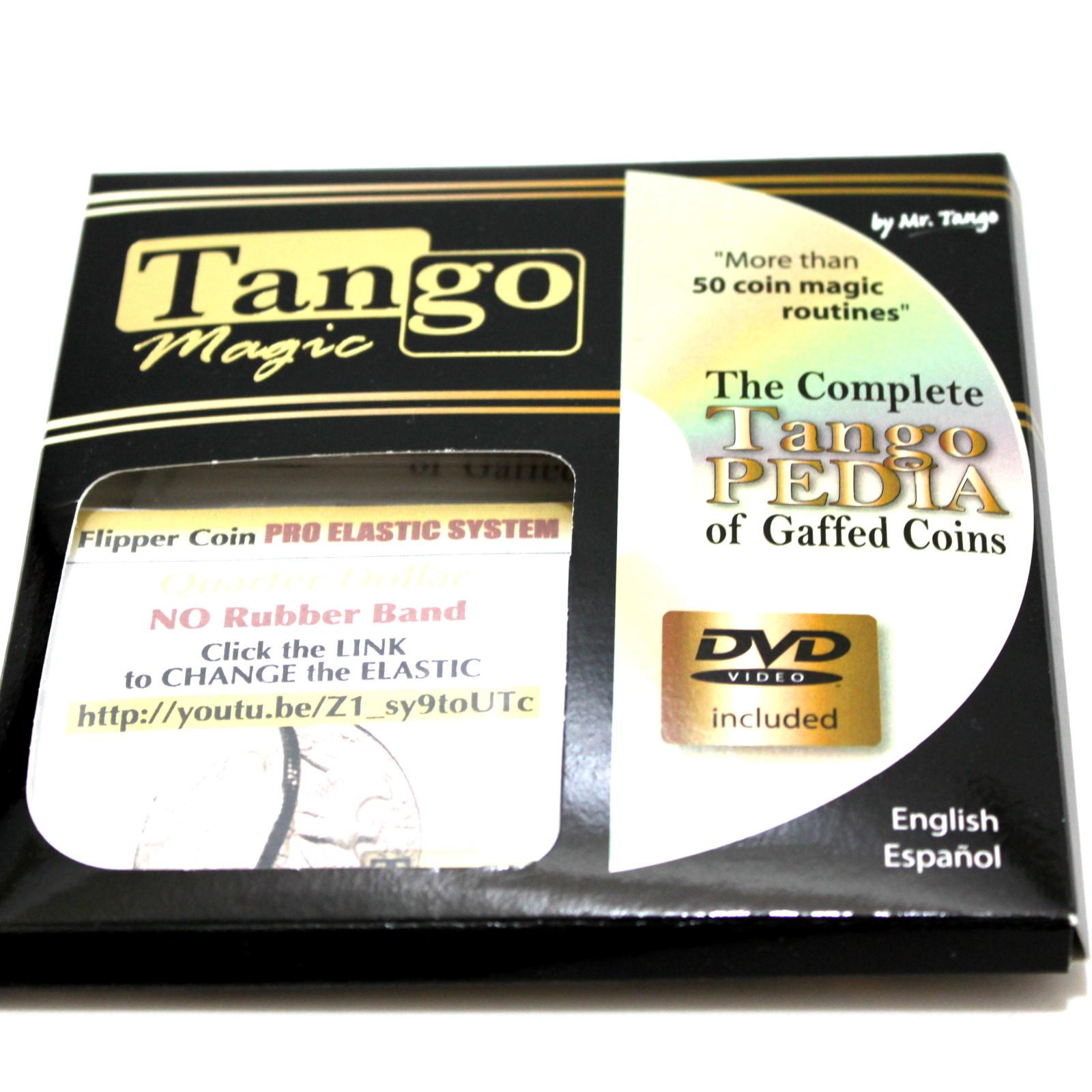 Pro Elastic System Flipper Coin (Quarter) by Tango Magic