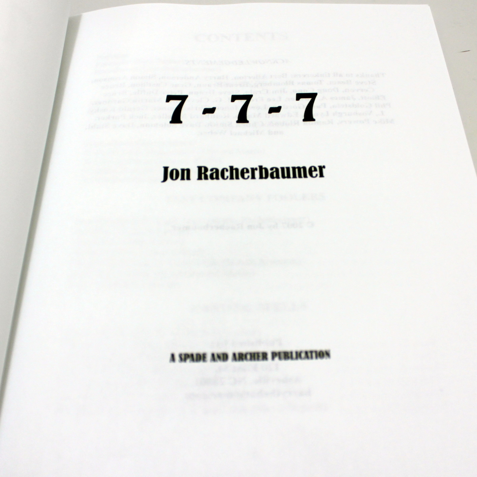 7-7-7 - The 21 Card Trick by Jon Racherbaumer